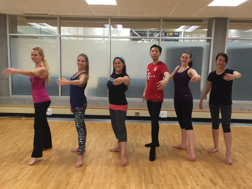 Ballet Body students at SFU Recreation.
