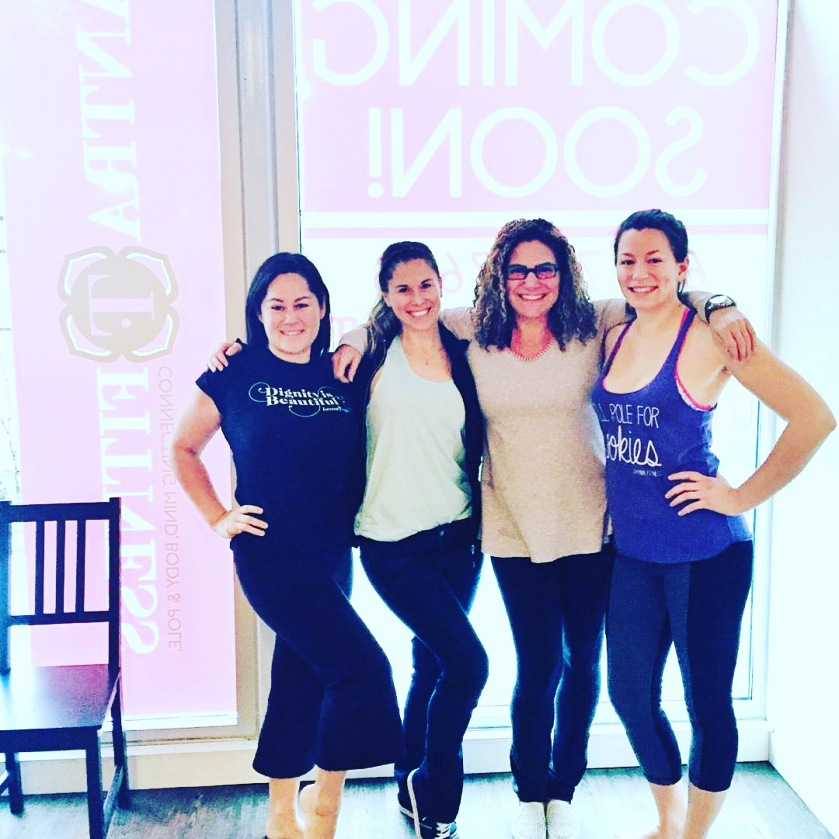 Myself, Emily, Randi and Amanda - our Saturday morning team at Tantra Fitness Mount Pleasant. Photo by Winnie